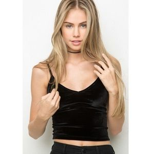 Brandy Melville Velvet Crop Top